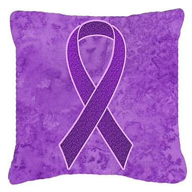 Ribbon for Pancreatic and Leiomyosarcoma Cancer Awareness Indoor/Outdoor Throw Pillow