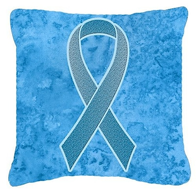 Caroline's Treasures Ribbon for Prostate Cancer Awareness Indoor/Outdoor Throw Pillow