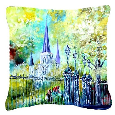 Caroline's Treasures Across The Square St Louis Cathedral Indoor/Outdoor Throw Pillow
