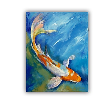 ArtWall ArtApeelz Yamato Nishiki Koi by Michael Creese Painting Print on Canvas