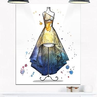 Mannequin avec robe longue, art mural numérique en métal, 12 x 28 (MT6644-12-28)