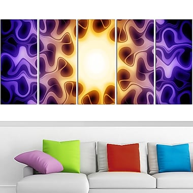 Light Shine Through Metal Wall Art, 60x28, 5 Panels, (MT3042-401)