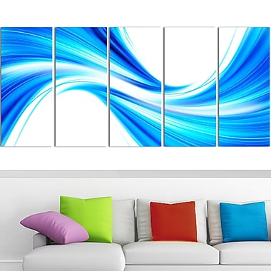 Peaceful Blue Flowing Through Metal Wall Art, 60x28, 5 Panels, (MT3072-401)