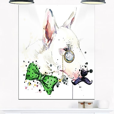 Art mural en métal d'animal, bull-terrier, 12 x 28 po (MT6053-12-28)
