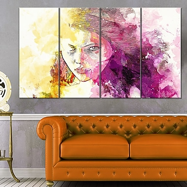 Seductive Stare Sensual Metal Wall Art, 48x28, 4 Panels, (MT2904-271)