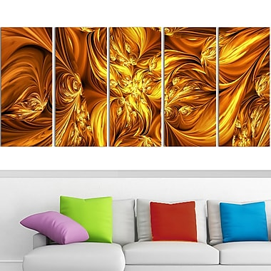 Molten Gold Exchange Metal Wall Art, 60x28, 5 Panels, (MT3093-401)