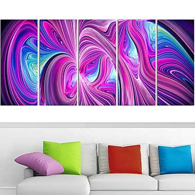 Pink and Blue Wonder Metal Wall Art, 60x28, 5 Panels, (MT3055-401)