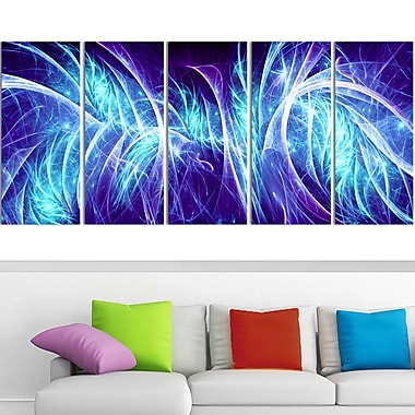 Blue Electricity Metal Wall Art, 60x28, 5 Panels, (MT3084-401)