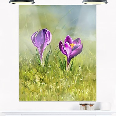 Crocus Couple Floral Metal Wall Art, 12x28, (MT6205-12-28)