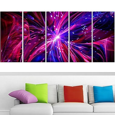 Pink and Purple Dreams Come True Metal Wall Art, 60x28, 5 Panels, (MT3068-401)