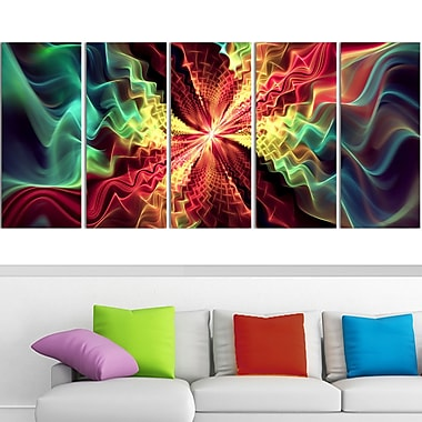 Hypnotize Abstract Metal Wall Art, 60x28, 5 Panels, (MT3029-401)