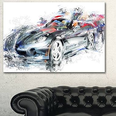 High End Luxury Car Metal Wall Art, 28x12, (MT2649-28-12)