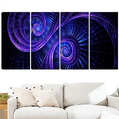 Royal Purple & Blue Dream Metal Wall Art, 48x28, 4 Panels, (MT3041-271)