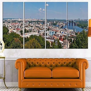 Kiev Cityscape Panorama Photo Metal Wall Art, 48x28, 4 Panels, (MT7057-271)
