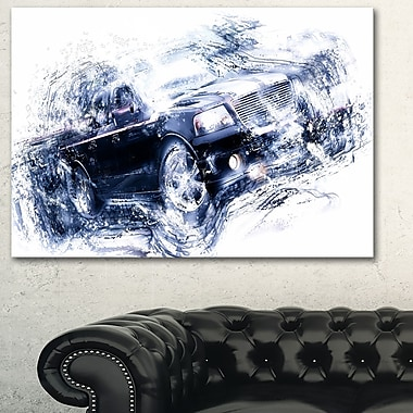 Black Luxury Car, art mural en métal, 28 x 12 (MT2637-28-12)