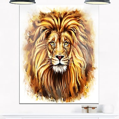 Angry King of Forest Animal Metal Wall Art, 12x28, (MT6206-12-28)