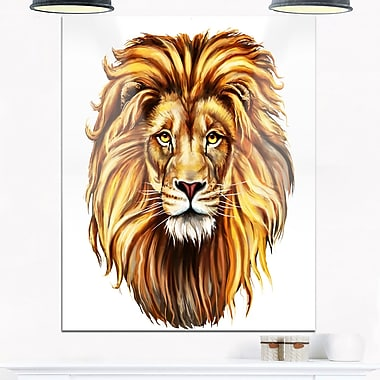 King Lion Aslan Animal Metal Wall Art, 12x28, (MT6182-12-28)