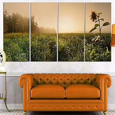 Green Panoramic Landscape Photo Metal Wall Art, 48x28, 4 Panels, (MT7020-271)