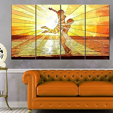 Rays of Light Sensual Metal Wall Art, 48x28, 4 Panels, (MT2914-271)