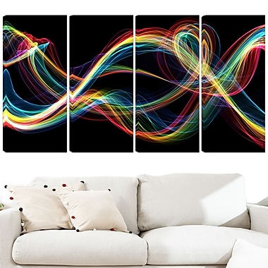 Coloured Smoke Metal Wall Art, 48x28, 4 Panels, (MT3089-271)