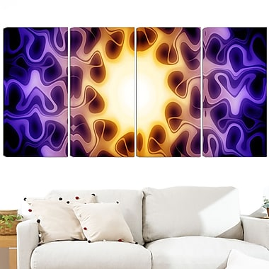 Light Shine Through Metal Wall Art, 48x28, 4 Panels, (MT3042-271)