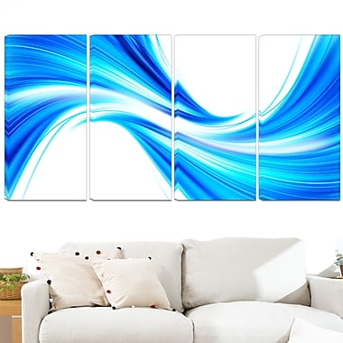 Peaceful Blue Flowing Through Metal Wall Art, 48x28, 4 Panels, (MT3072-271)