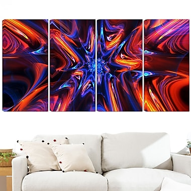 Starry Trance Metal Wall Art, 48x28, 4 Panels, (MT3033-271)