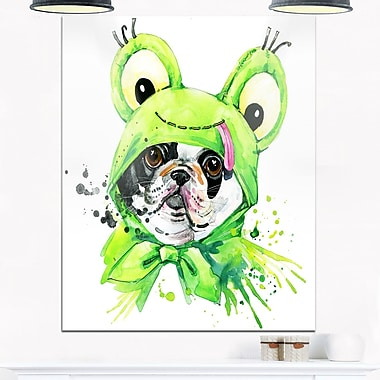 Art mural en métal d'animal, bouledogue français, 12 x 28 po (MT6054-12-28)