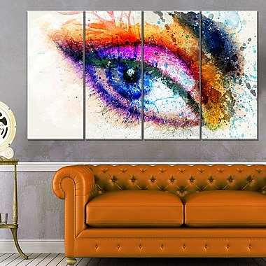 Eyes Are the Window Sensual Metal Wall Art, 48x28, 4 Panels, (MT2905-271)
