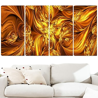 Molten Gold Exchange Metal Wall Art, 48x28, 4 Panels, (MT3093-271)