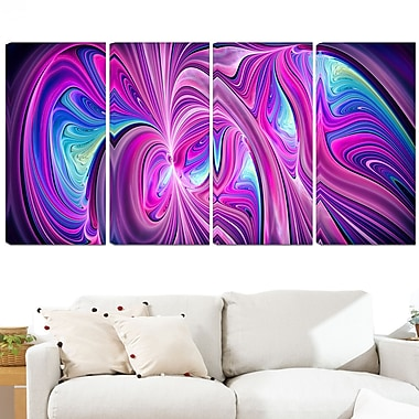 Pink and Blue Wonder Metal Wall Art, 48x28, 4 Panels, (MT3055-271)