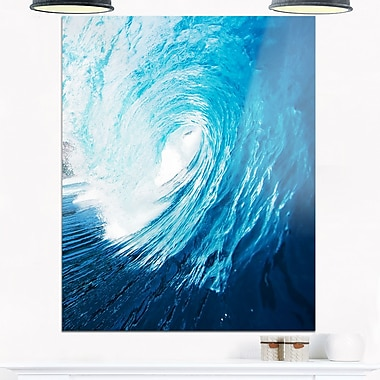 Ocean Waves in Hawaii Photo Metal Wall Art, 12x28, (MT6988-12-28)