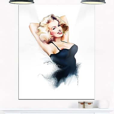 Sexy Woman Sensual Metal Wall Art, 12x28, (MT6654-12-28)
