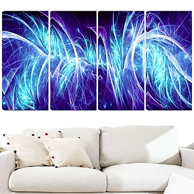 Blue Electricity Metal Wall Art, 48x28, 4 Panels, (MT3084-271)