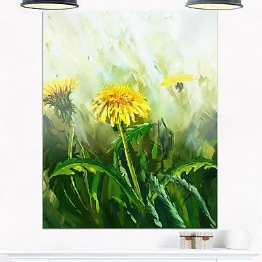 Dandelion Flowers Floral Metal Wall Art, 12x28, (MT6207-12-28)