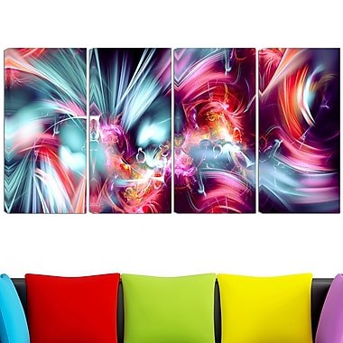 Take Me Over Digital Metal Wall Art, 48x28, 4 Panels, (MT3003-271)