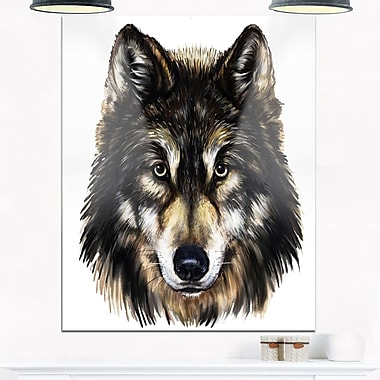 Wolf Head Animal Metal Wall Art, 12x28, (MT6183-12-28)