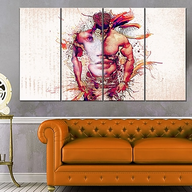In My HeartSensual Metal Wall Art, 48x28, 4 Panels, (MT2930-271)