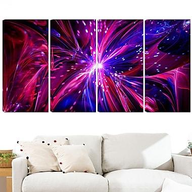 Art mural en métal, rêves roses et violets devenus réalité, 48 x 28 po, 4 panneaux, (MT3068-271)