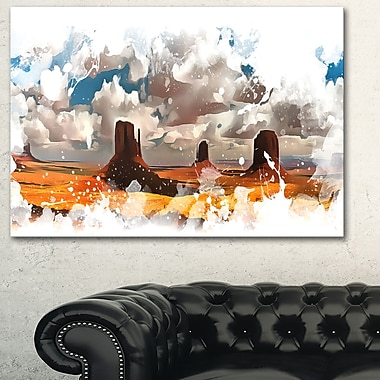 Monument Valley National Park Metal Wall Art, 28x12, (MT2816-28-12)
