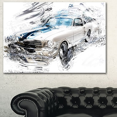 Super Charged American Classic Metal Wall Art, 28x12, (MT2614-28-12)