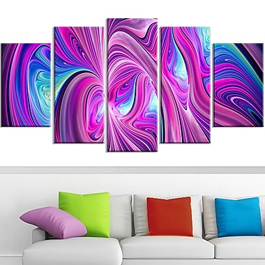 Pink and Blue Wonder Metal Wall Art, 60x32, 5 Panels, (MT3055-373)