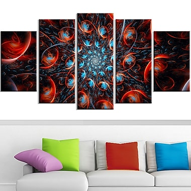 Rapid Expansion Metal Wall Art, 60x32, 5 Panels, (MT3037-373)