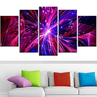 Pink and Purple Dreams Come True Metal Wall Art, 60x32, 5 Panels, (MT3068-373)