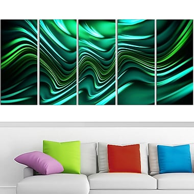 Emerald Energy Green Abstract Metal Wall Art, 60x28, 5 Panels, (MT3020-401)
