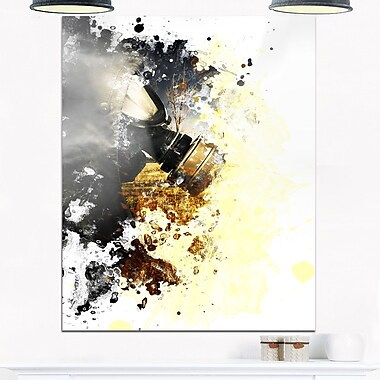 Disaster of War and Gas Digital Abstract Metal Wall Art, 12x28, (MT6626-12-28)