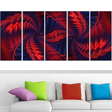 Kaleidoscope Metal Wall Art, 60x28, 5 Panels, (MT3034-401)