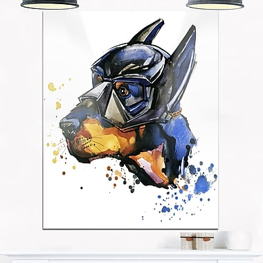 Doberman Superman Animal Metal Wall Art, 12x28, (MT6055-12-28)