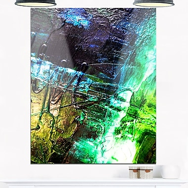 Green, Blue Abstract Structure Metal Wall Art, 12x28, (MT6260-12-28)