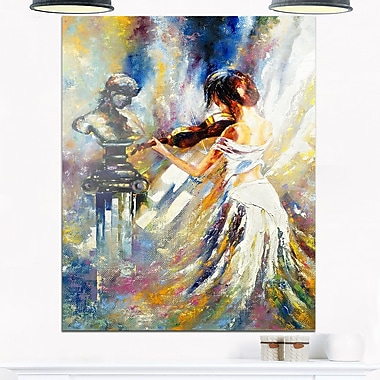 Love with Endless Music Abstract Metal Wall Art, 12x28, (MT6208-12-28)